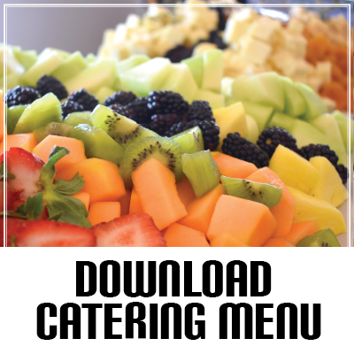 an image of the catering menu pdf file