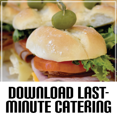 Download the Last-Minute Catering Menu